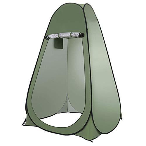 Carpa De Ducha De Privacidad Emergente, Toldo Portátil para Exteriores, Tipo Vestidor para Exteriores con Una Altura De 190 Cm, También Apto para Pescar,Verde
