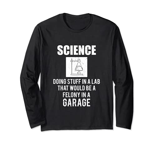 Ciencia haciendo cosas en un laboratorio que sería delito en garaje Manga Larga