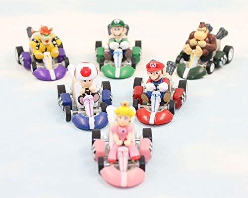 1 set mario speelgoed pop pvc super mario bros actiefiguren ezel kong draak gratis verzending 6 stks/set