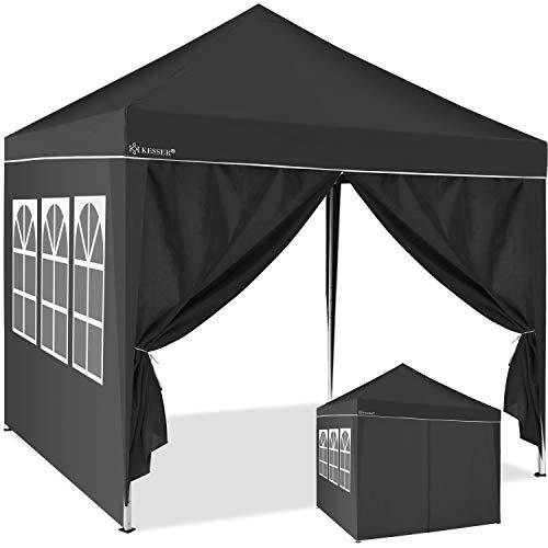 Kesser® 2X Seitenwand Anthrazit für Pavillon 3x3m - Faltpavillon Pop Up | klappbar | platzsparend | verstaubar |