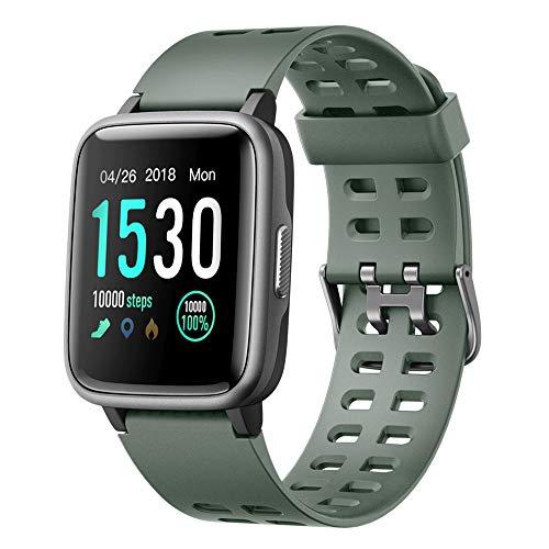 Willful Smartwatch,Fitness Armbanduhr mit Pulsuhr Touchscreen Fitness Uhr IP68 Wasserdicht Fitness Tracker Sportuhr mit Schrittzähler Stoppuhr Smart Watch für Damen Herren für iOS Android Handy Green