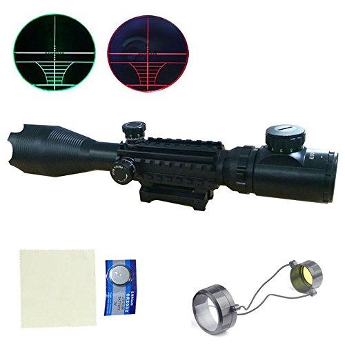MCTECH® 4-16x50EG Zielfernrohr Rot Und Grün Taktische Luftgewehr Armbrust Rifle Scope Luftscharfschützen Airsoft + 11mm/20mm Montagen für Jagd und Sport (4-16x50EG mit 22mm Montage)