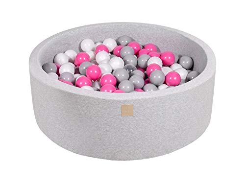 MEOWBABY Foam Ball Pit 35 x 11.5 in /200 Balls Included ∅ 2.75in Round Ball...