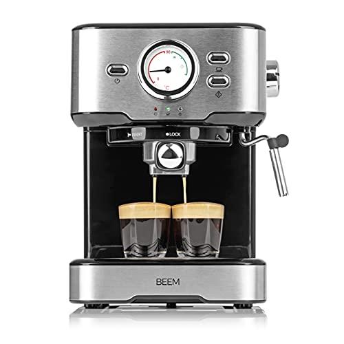 BEEM ESPRESSO-SELECT macchina per caffè espresso 15 bar | Espresso, Cappuccino, Latte Macchiato in qualità barista | Alloggiamento di alta qualità in acciaio inossidabile spazzolato