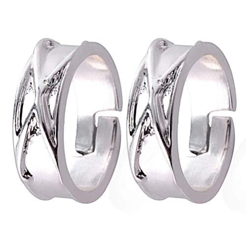 AILOS - Anillo de aleación ajustable para mujer y hombre, anillo de apertura ajustable, regalo de San Valentín para los fanáticos de animación, anillo para mujer y hombre