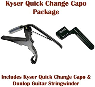 Kyser Quick Change Capo - Package also includes Dunlop Guitar Stringwinder