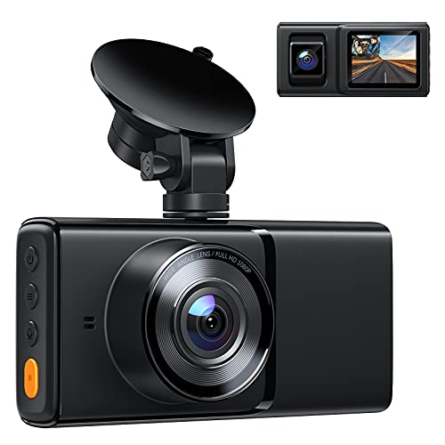 Dash Cam Front and Inside Cabin, Both 1080P Dual Dash Camera for Cars with IR Night Vision, 170°+140° Wide Angle, Accident Record, Parking Monitor for Truck Taxi Driver, Support 128GB and GPS is $39.99 (20% off)