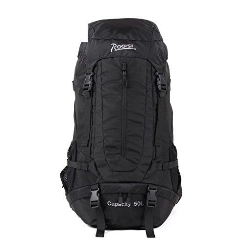 Backpack éclairage extérieur Sac de randonnée imperméable/50L Sac à Dos de randonnée épaules