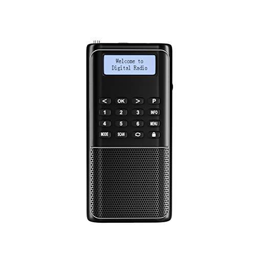 Raddy RD23 Tragbares DAB Radio Klein Digitalradio Bluetooth-Verbindung UKW DAB+ Batteriebetrieben Küchenradio,schwarz