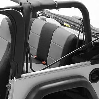 Coverking Custom Fit Seat Cover for Jeep Wrangler TJ 2-Door - (Neoprene, Black/Gray)