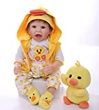 ZIYIUI 22 Pulgadas 55 cm Muñecas Bebés Reborn Niña Silicona Blanda Vinilo Bebé Reborn Barato Muñeca Realista Munecas Bebes Reales Reborn Doll