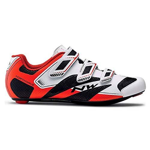 Northwave Sonic 2 Rennrad Fahrrad Schuhe weiß/schwarz/rot 2018: Größe: 39.5
