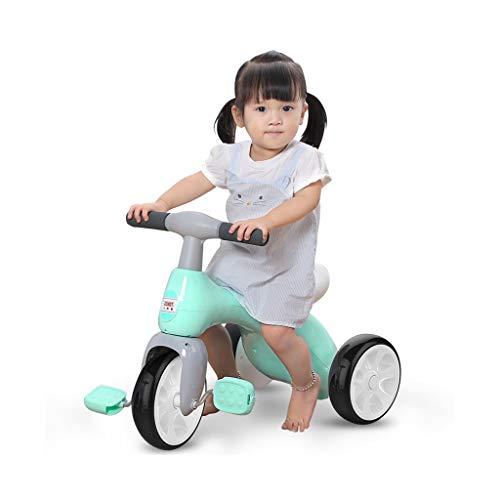 Fácil de Llevar Regalos a los niños de Juguete de Tres Ruedas Muchacha de los niños de 1 a bebé de 3 años de Edad, Amor Walker niño (Color : Green)