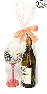 Clear Cellophane Bags for Baskets and Gifts, 9