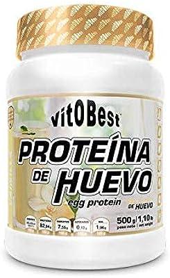 VIT.O.BEST PROTEINA DE Huevo Vainilla 500 gr, Negro, Mediano ...