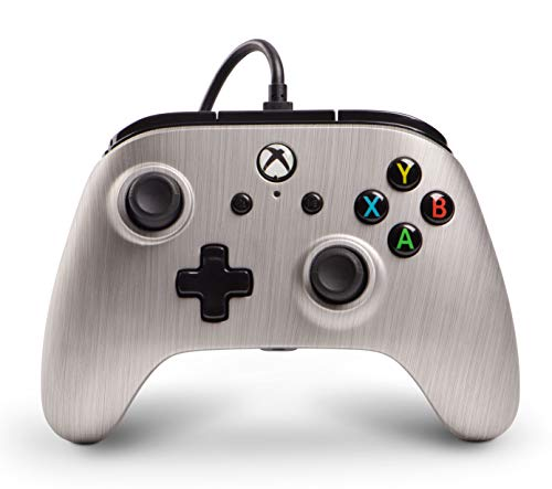 Xbox One Enhanced Wired Controller|Gamepad|Rumble|Brushed Aluminum|PowerA (Xbox One)