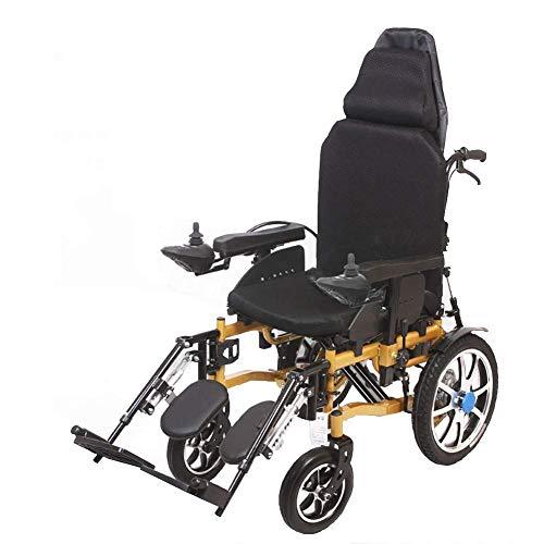 DLC Leichter, Zusammenklappbarer, Sicherer Rollstuhl, Kompakter Elektrorollstuhl - Persönliche Mobilitätshilfe - Leichter Zusammenklappbarer Elektrorollstuhl, Mit 2 Leistungsstarken Motoren - Unterst