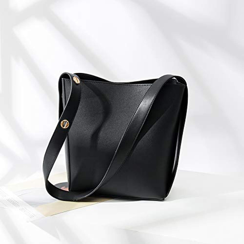 WANGZHAO Bucket Bag Female Bag Shoulder Bag Diagonal Bag, Women's Simple Versatile Mother Bag