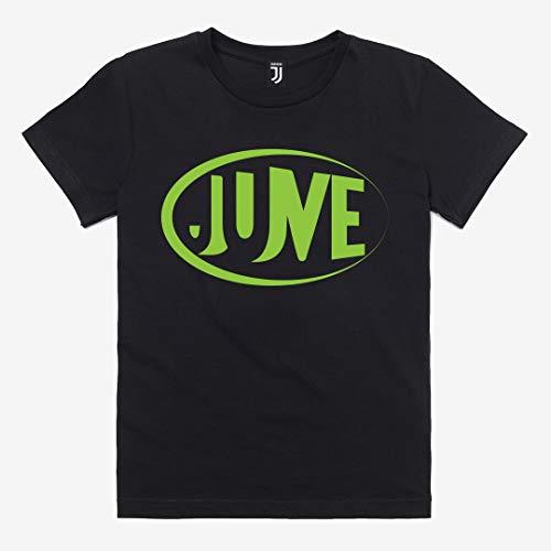 Juventus Maglietta T-Shirt Nera con Logo Verde Fluo - Bambino - Collezione 2020/2021-100% Originale - 100% Prodotto Uffciciale - Scegli la Taglia (Taglia 10 Anni)
