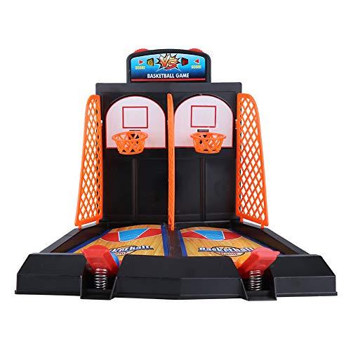 Basketball Schießen Spiel Spielzeug Set Mini 2-Player Tisch Desktop Basketball Spiele Lustige Flipper Interaktives Brettspiel Sport Neuheit Spielzeug Helfen Sie Stress für Kinder Erwachsene