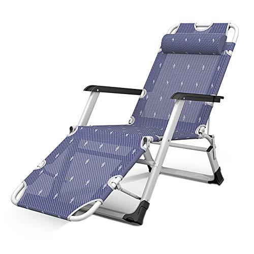 YQAD Sillas plegables plegables de tela Oxford multifunción sillas de gravedad cero portátiles para el hogar oficina playa camping Sunbed-5
