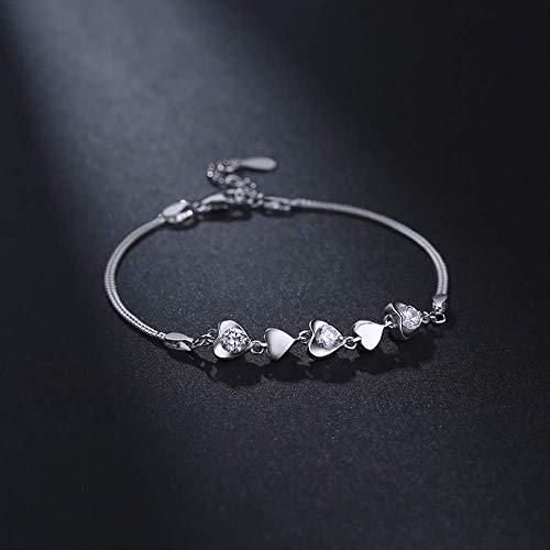 LFWQ Fashion Honderd Armband Vrouwelijke Doos Armband Armband Armband Hartvormige Mozaïek Armband