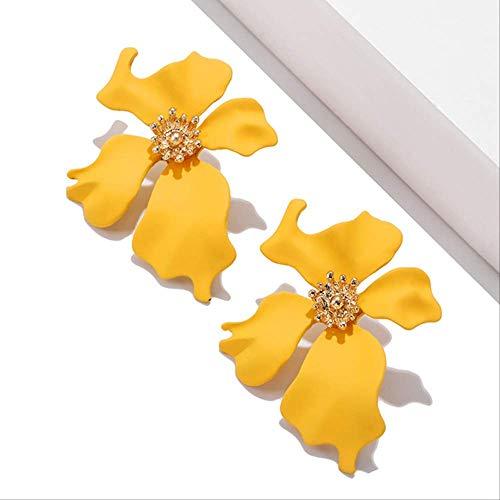 Oor manchetten voor vrouwen eenvoudig schilderen bloemblaadje kleine onregelmatige metalen oorbellen voor vrouw meisje cadeauez290-4