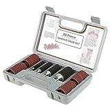 Cocoarm Schleifwalzen-Set 20-tlg Schleifhülsen Schleifrolle für Bohrmaschine Schleifband mit 4pcs Gummitrommel 16pcs Hülsen und 1 Aufbewahrungskoffer