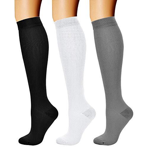 1. CHARMKING (3 Pairs) 15-20 mmHg Compression Socks