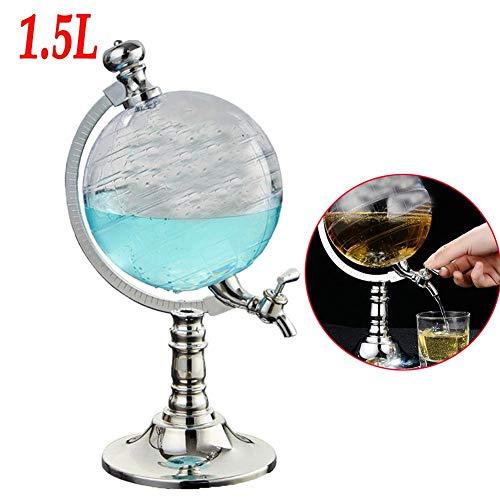 TOMATION 1500 ml Whisky karaffe globus Set,Glass Craft Matte Map Weinkühler Weinkaraffe für Restaurant, Bar