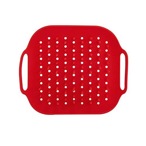 Instant Pot Acessório oficial bandeja de silicone para fritadeira a ar, tamanho único, vermelho