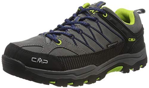 CMP Kids Rigel Low Trekking Shoes WP, Scarpe da Arrampicata Basse Unisex-Bambini, Nero (Graffite Marine 35ud), 36 EU