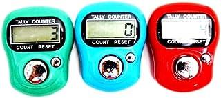 Tasbeeh Electronic Tally Finger Counter Random Color 3 Pcs Set
