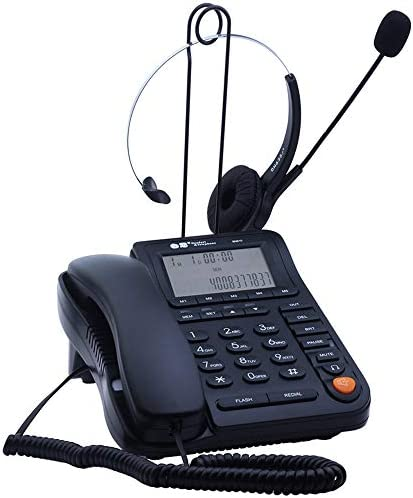JeKaVis J P17 Call Center Corded Phone Headset with Caller ID Auto Answering Noise Cancelling product image