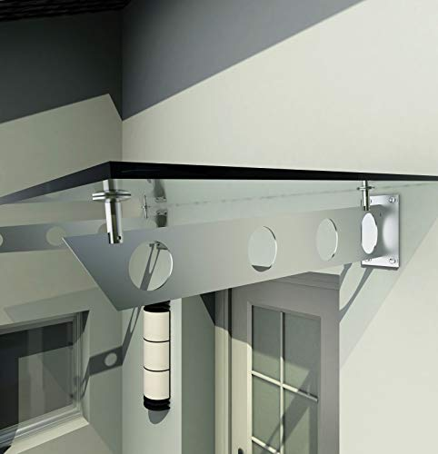 BuyLando.Shop - [Typ-Halter] Träger für Glasvordach, Vordachhalter, Glashalter, Halter für Vordach, Variation (1 Stück Schwert Halter)