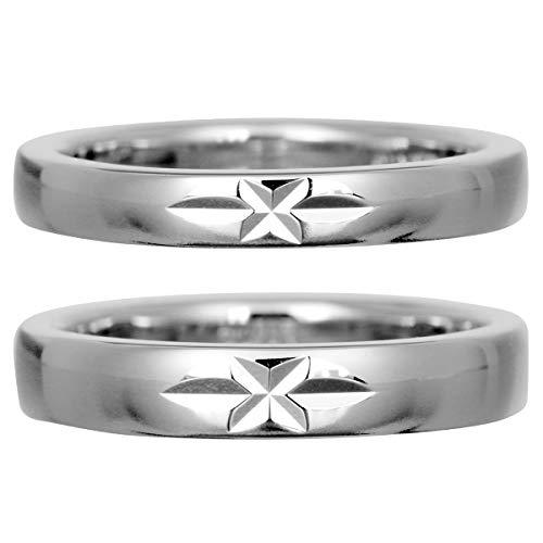 [ココカル]cococaru フルエタニティリング カットデザイン ペアリング シルバー リング2本セット マリッジリング 結婚指輪 日本製 (レディースサイズ12号 メンズサイズ6号)