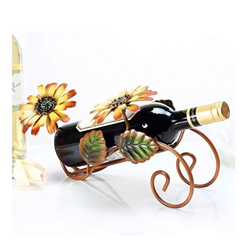 Yuanjiashop Estante para Botellas de Vino Wine Rack Flor de Sun Vino del hogar del Estante Decoraciones Interiores decoración Retro de la Manera Conveniente for el hogar, Oficina Botelleros