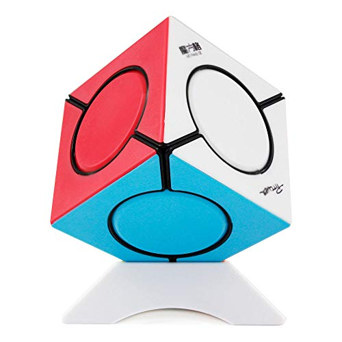 FunnyGoo Oostifun MOFANGGE Fangyuan Skewb Irregular Six Spot Cube Puzzle Mo Fang GE fangyuan Skewb Puzzle Cube Multicolour Stickerless with One Cube Stand