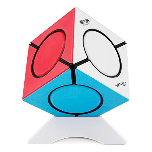 OJIN MO Fang GE Fangyuan Skewb Irregular Six Spot Cube Puzzle Mofangge fangyuan Cube Skewb Puzzle Cube con un trípode de Cubo (Sin Etiqueta)
