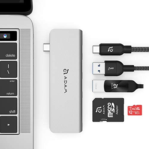 ADAM ELEMENTS CASA Hub 5E Universal 5 in1 Card Reader USB C Hub SD MicroSD High Speed Writes product image