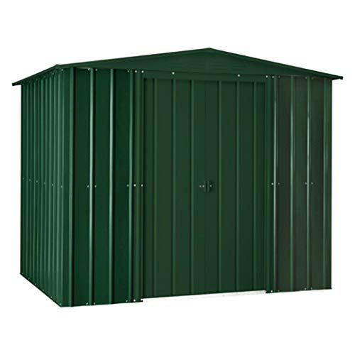 LOTUS 8x5 Apex Metal Shed Heritage Green, 8 x 5