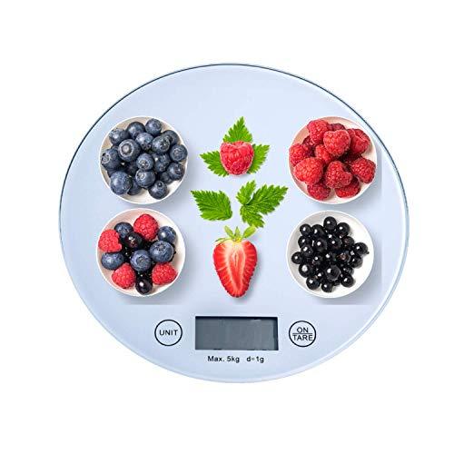 Weight | Bilancia da Cucina Digitale, In Vetro Con Funzione Tare,5kg/11 lbs Professionale In Vetro Temperato,Pesa Alimenti Alta Precisione