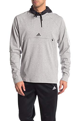 adidas Originals Sudadera con capucha para hombre Big Trefoil - gris - Large