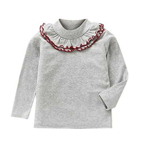 t-shirt fille, Mamum T-Shirts Tops Fille Manches Longues Vetement (gris, 90(12-18Mois))
