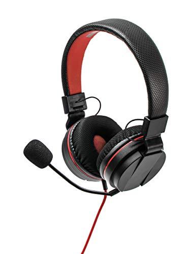 snakebyte Switch GAMERKIT S - Sound & Protect Set / Nintendo Switch Stereo Gaming Headset / Kabellänge = 4,5m / H9 Panzerglas Schutzfolie / 2 gummierte Control Caps / Kopfhörer mit 3,5mm AudioStecker