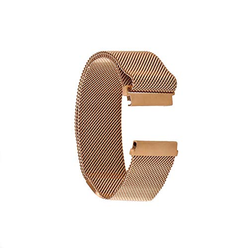Correa de repuesto para reloj Samsung Gear S3 Frontier Classic de acero inoxidable Milanese magnético, 22 mm, Dorado