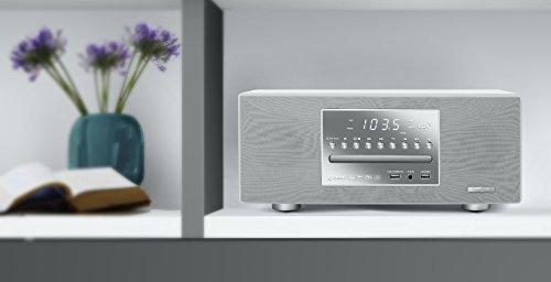 Muse M-680 BTCW edler CD-Spieler und Bluetooth-Lautsprecher mit UKW-Radio (USB, NFC, AUX-In, Uhr, Wecker, 40 Watt, Holzgehäuse, Fernbedienung), kompaktanlage, weiß