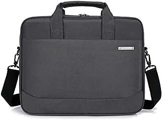 Yuanzengjunfva Large-Capacity Briefcase Oxford Cloth Casual Business Wind Computer Bag Male Shoulder File Bag Handbag Waterproof (Color : Grey, Size : 15.6 inch)