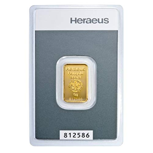 5 Gramm Goldbarren Heraeus im Blister LBMA-Zertifiziert NEU