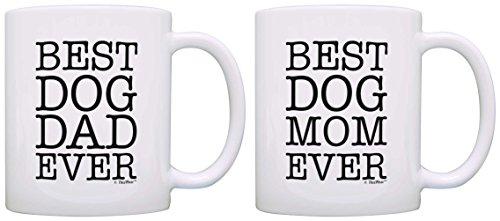 Dog Lover Gift Best Dog Mom Dad Ever Dog Owner Gift Bundle 2 Pack Gift...